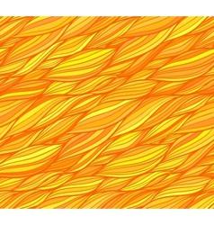 Orange doodle hair seamless pattern vector image