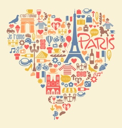 Paris France Icons Landmarks and attractions vector image vector image