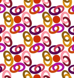 pattern colored rings vector image vector image