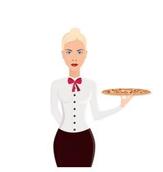restaurant waiter classic waiter takes the vector image