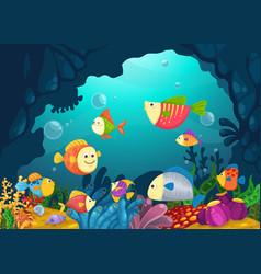 sea underwater background vector image vector image
