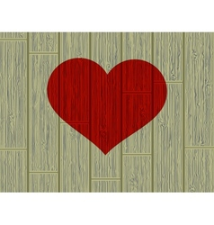 Valentines day concept heart on wood EPS 8 vector image