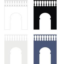 ancient bridge vector image vector image