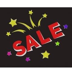 Banner sale in retro-cartoon style vector image