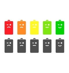 Battery indicator smiley icons vector image vector image
