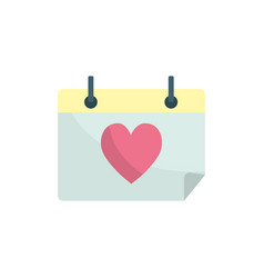 Calendar with heart to romantic special day vector