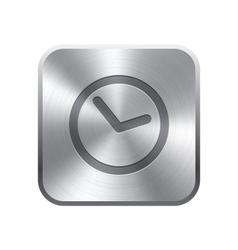 Clock icon button vector image vector image
