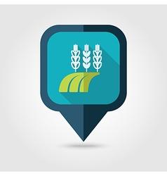 Ears of Wheat Barley Rye Field flat pin map icon vector image vector image