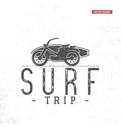 surf trip concept summer surfing retro vector image