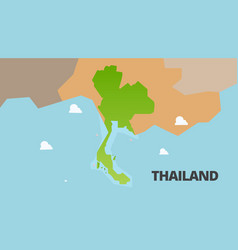 thailand green map is fully vector image vector image