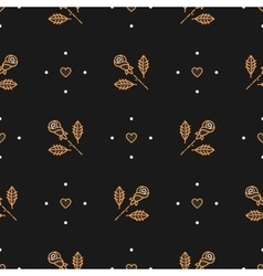 thin line art seamless pattern of gold vector image vector image