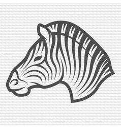 Zebra symbol logo emblem vector image