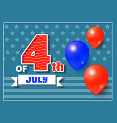 4th of july holiday banner vector image