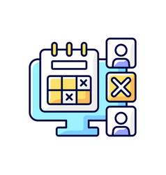 Absence calendar rgb color icon vector