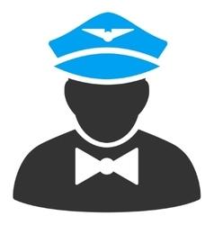 Airline Steward Flat Icon vector