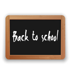 Back to school on blackboard vector