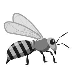 Bee icon gray monochrome style vector image