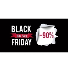 Black Friday sale design template Black Friday 90 vector image