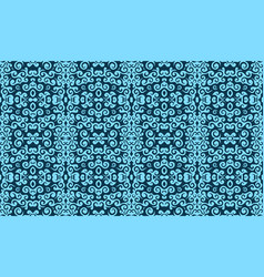 blue vintage pattern vector image
