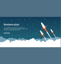 Business plan launching concept cartoon style vector