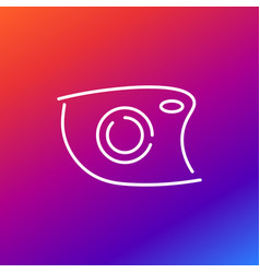 camera icon depicted in an unusual style as if vector image