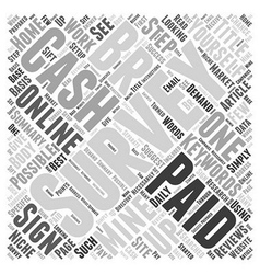 Cash Only Survey Word Cloud Concept vector