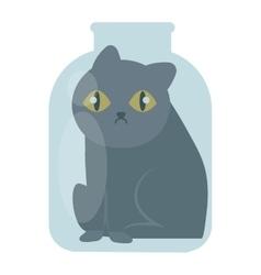 Cat in jar vector
