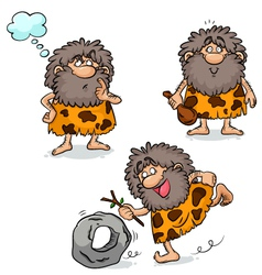 cavemen vector image