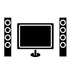 Cinema home theater icon vector
