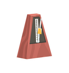 classic metronome musical equipment cartoon vector image