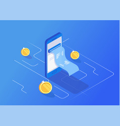 Concept of notification on financial transaction vector