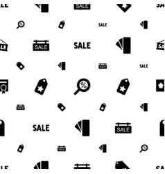 Discount icons pattern seamless white background vector