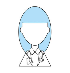 Doctor profile cartoon vector