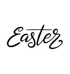 easter lettering template hand drawn black vector image