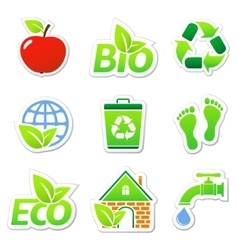 Ecology Stickers vector
