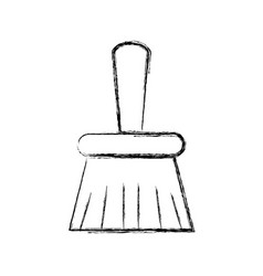 figure broom sweep equipment to clean house vector image