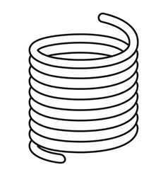 Flexible cable icon outline style vector