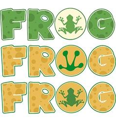 Frog design elements vector