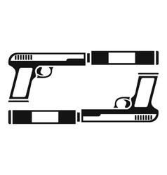 Gun icon simple style vector