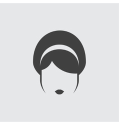 Hairstyle icon icon vector image