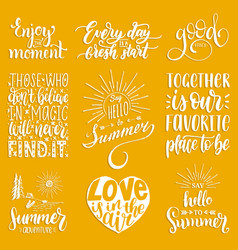 Hand lettering with motivational phrases vector