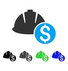 Helmet price flat icon vector