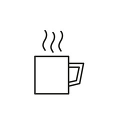hot drink iconhot drink icon vector image