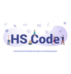 Hs code harmonized commodity description and vector