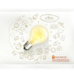 Idea business infographics vector