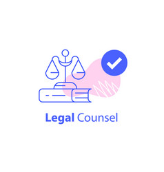 lawyer or advocate firm law services vector image