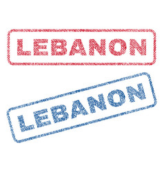 lebanon textile stamps vector image