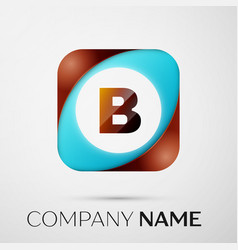 Letter b logo symbol in the colorful square on vector