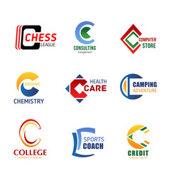 letter c icons for corporate identity vector image