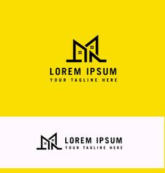 letter m house l logo design concept template vector image